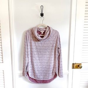 NWT Loft Cowl Neck Striped Sweater